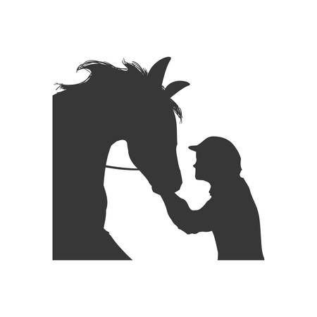 horse animal ridding silhouette sport hobby icon. Isolated and flat illustration. Vector graphic