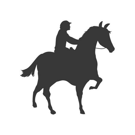 ridding: horse animal ridding silhouette sport hobby icon. Isolated and flat illustration. Vector graphic Illustration
