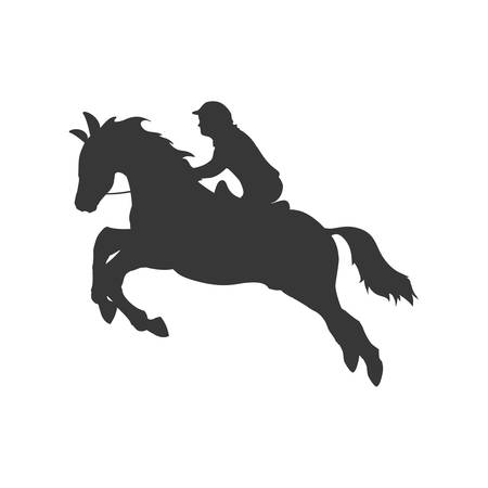 hobby horse: horse animal ridding silhouette sport hobby icon. Isolated and flat illustration. Vector graphic Illustration