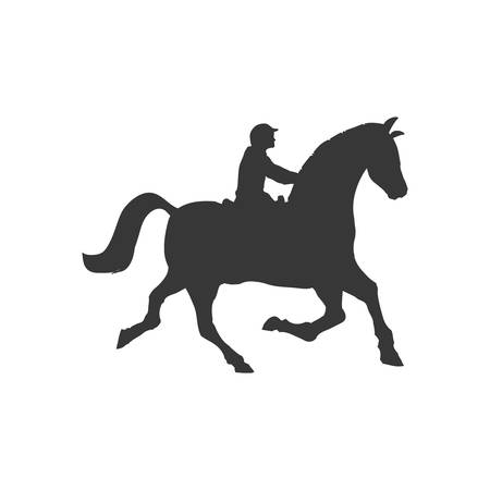 horse animal ridding silhouette sport hobby icon. Isolated and flat illustration. Vector graphic Illustration