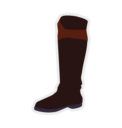 ridding: boot horse animal ridding sport hobby icon. Isolated and flat illustration. Vector graphic