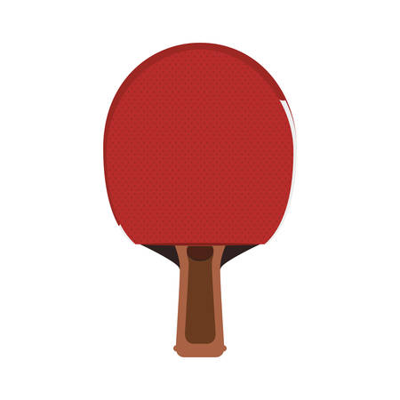 ping pong: racket ping pong hobby sport icon. Isolated and flat illustration. Vector graphic Vectores