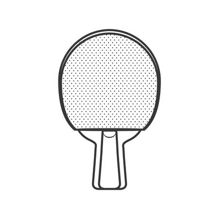 racket ping pong hobby sport icon. Isolated and flat illustration. Vector graphic Illustration