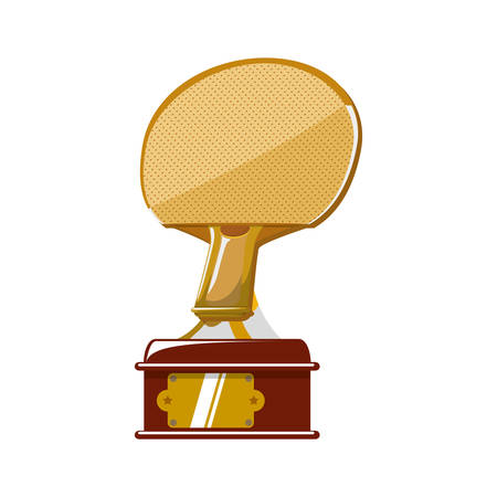 ping pong: racket trophy ping pong hobby sport icon. Isolated and flat illustration. Vector graphic