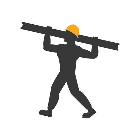 metal worker: helmet metal constructer worker industry icon. Isolated and flat illustration. Vector graphic
