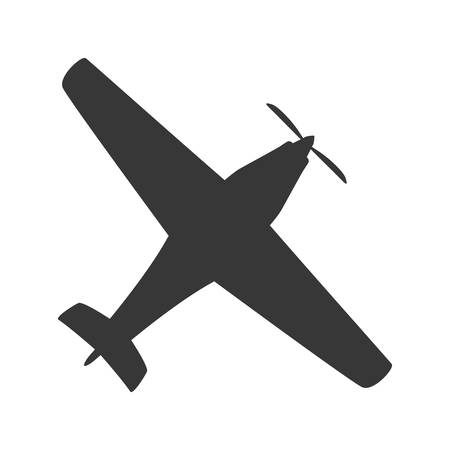 airplane transportation delivery travel icon. Isolated and flat illustration. Vector graphic Illustration