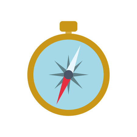 latitude: compass navigation instrument antique icon. Isolated and flat illustration. Vector graphic Illustration