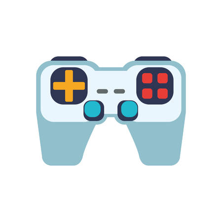 obsession: control pixel video game play icon. Isolated and flat illustration. Vector graphic