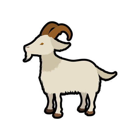 reserve: Goat animal farm pet character icon. Isolated and flat illustration. Vector graphic Illustration
