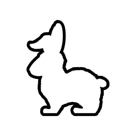 reserve: Rabbit animal farm pet character icon. Isolated and flat illustration. Vector graphic