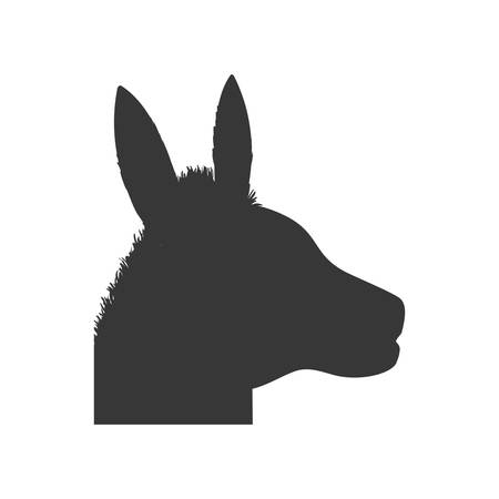 Donkey animal farm pet character icon. Isolated and flat illustration. Vector graphic