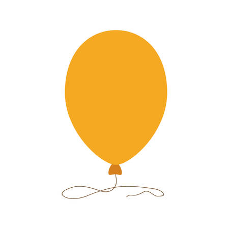 outdoor event: Balloon party celebration birthday icon. Isolated and flat illustration. Vector graphic