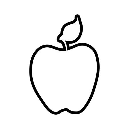 food market: apple healthy food organic food market icon. Isolated and flat illustration. Vector graphic