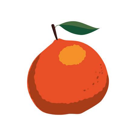 food market: orange healthy food organic food market icon. Isolated and flat illustration. Vector graphic Illustration