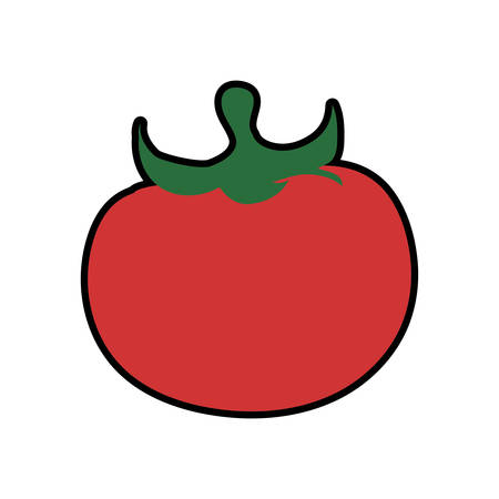 food market: tomato healthy food organic food market icon. Isolated and flat illustration. Vector graphic Illustration