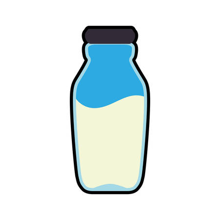 food market: milk bottle healthy food organic food market icon. Isolated and flat illustration. Vector graphic