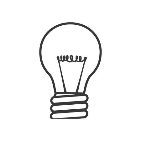 illumination: Light bulb energy  power illumination icon. Isolated and flat illustration. Vector graphic