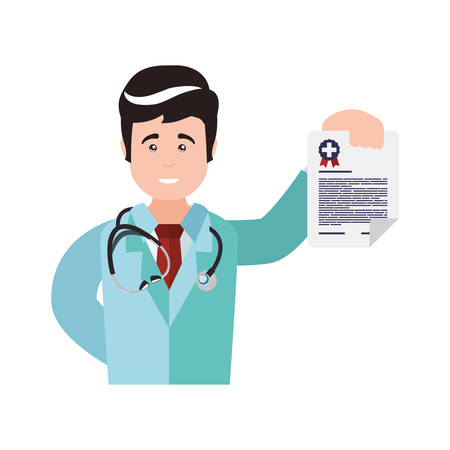 Doctor uniform stethoscope medical health care icon. Isolated and flat illustration. Vector graphic Illustration