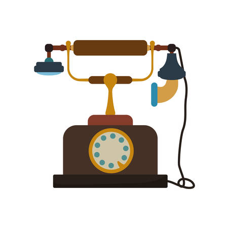 Phone technology retro vintage icon. Isolated and flat illustration. Vector graphic