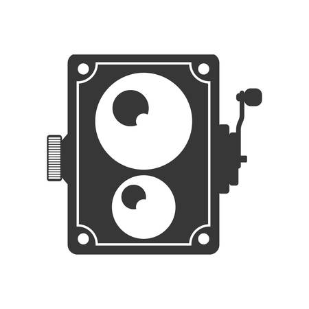 videocamera: Videocamera technology retro vintage icon. Isolated and flat illustration. Vector graphic Illustration