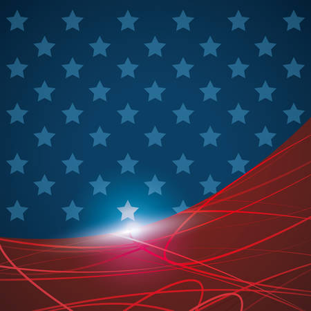 Usa patrotism star culture blue red icon. Background and colorfull illustration. Vector graphic Illustration