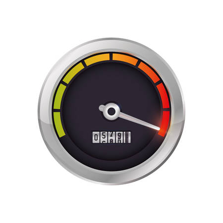 kilometer: Gauge transportation kilometer speed icon. Isolated and flat illustration. Vector graphic