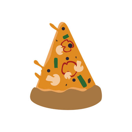 Pizza food menu fast dinner icon. Isolated and flat illustration. Vector graphic