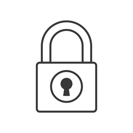 detected: Padlock security system protection icon. Isolated and flat illustration. Vector graphic Illustration