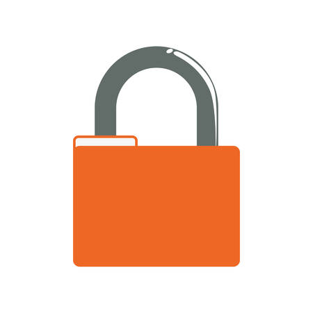 menace: Padlock security system protection icon. Isolated and flat illustration. Vector graphic Illustration
