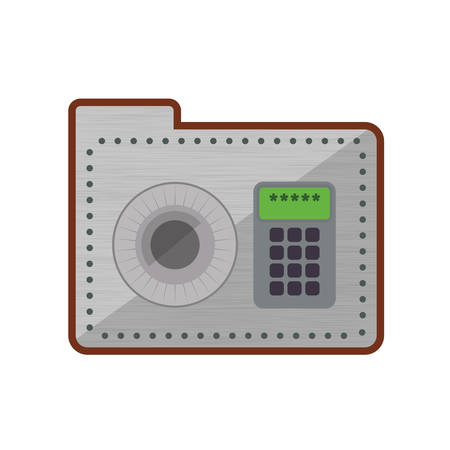 detected: Strongbox security system protection icon. Isolated and flat illustration. Vector graphic