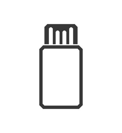 computer socket: usb technology gadget icon. Isolated and flat illustration. Vector graphic Illustration