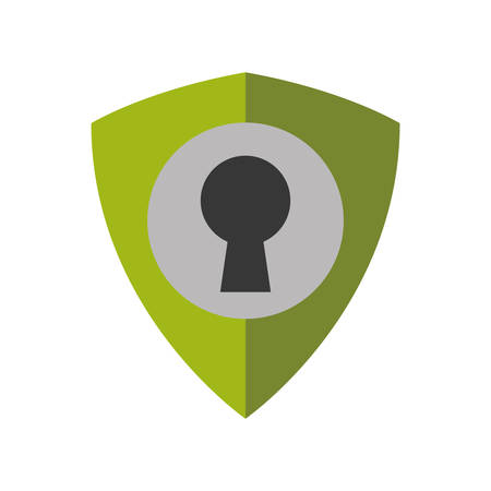 Padlock shield security system protection icon. Isolated and flat illustration. Vector graphic Illustration