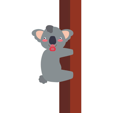 wildlife reserve: Koala cute animal little icon. Isolated and flat illustration. Vector graphic Illustration