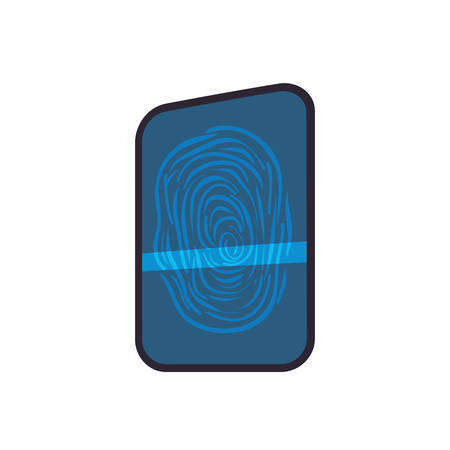 dactylogram: Fingerprint code security system protection icon. Isolated and flat illustration. Vector graphic
