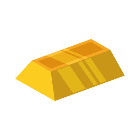 gold bar: Gold bar block yellow treasure icon. Isolated and flat illustration. Vector graphic