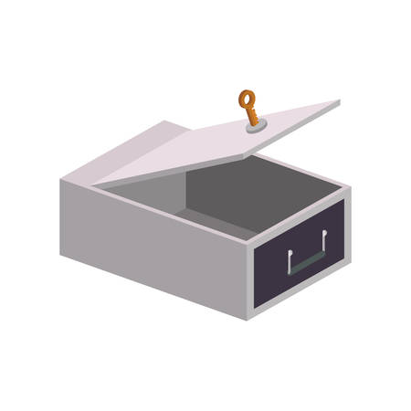 strongbox: Strongbox security money financial item value icon. Isolated and flat illustration. Vector graphic