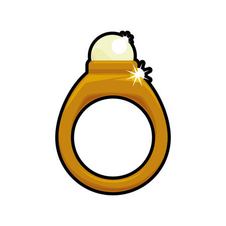 Ring accesory gold jewelry icon. Isolated and flat illustration. Vector graphic