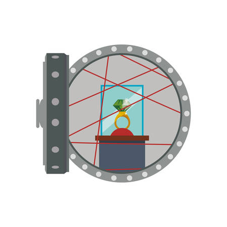strongbox: Strongbox ring security money financial item value icon. Isolated and flat illustration. Vector graphic