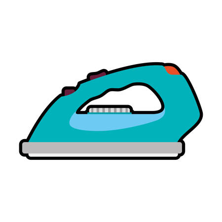 electric iron: Iron supply house electric appliance icon. Isolated and flat illustration. Vector graphic