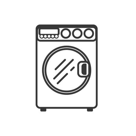 washer: Washer supply house electric appliance icon. Isolated and flat illustration. Vector graphic