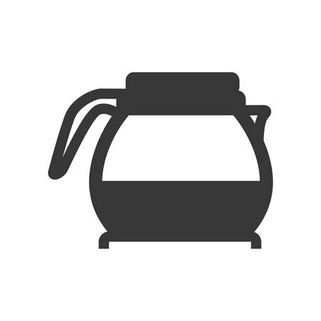 kettle pot supply house electric appliance icon. Isolated and flat illustration. Vector graphic