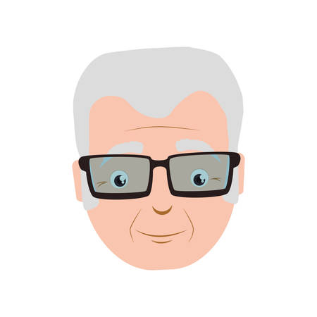 grey hair: Grandfather male man hair grey icon. Isolated and flat illustration. Vector graphic Illustration