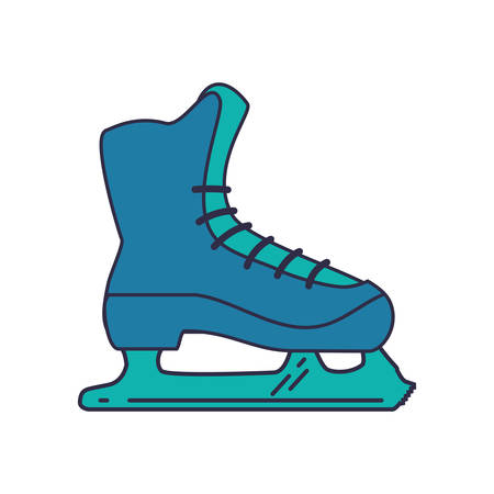 skate shoe winter sport hobby icon. Isolated and flat illustration. Vector graphic Illustration