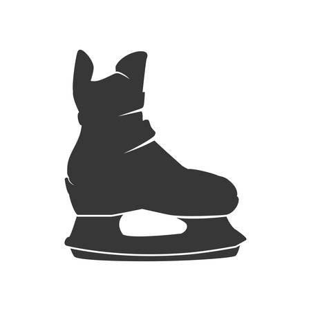footwear: skate shoe winter sport hobby icon. Isolated and flat illustration. Vector graphic Illustration
