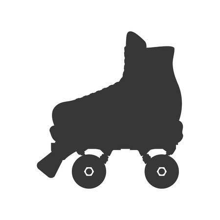 patín de ruedas icono del deporte del zapato de manía. ilustración y plana. gráfico vectorial Ilustración de vector