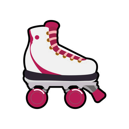 roller skate shoe sport hobby icon. Isolated and flat illustration. Vector graphic Illustration