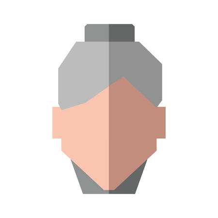 grey hair: Grandmother female woman hair grey icon. Isolated and flat illustration. Vector graphic