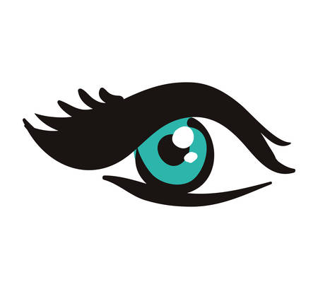eye look view human optical icon. Isolated and flat illustration. Vector graphic Illustration