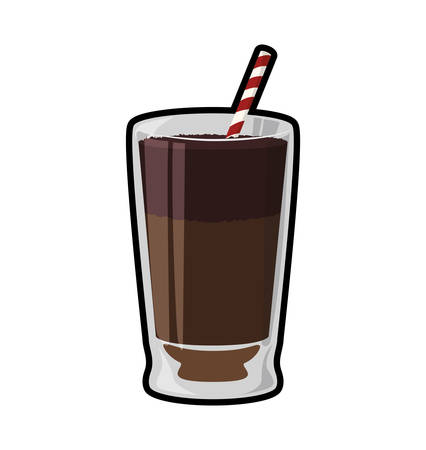 chocolate drink: chocolate drink glass sweet delicious icon. Isolated and flat illustration. Vector graphic