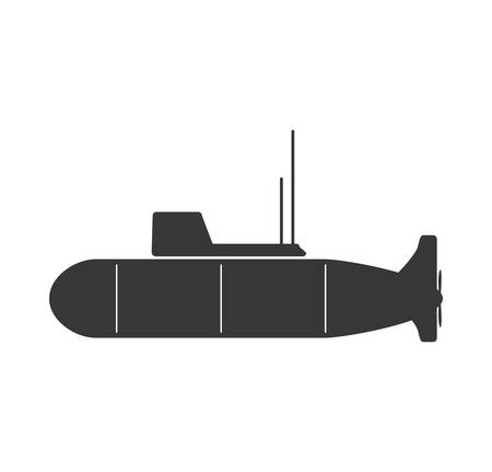 british army: submarine armed forces military icon. Isolated and flat illustration. Vector graphic